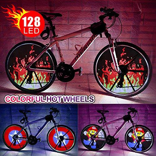 LED Bike Wheel Light impermeabile fai da te programmabile bicicletta pneumatico luce raggio luci con...