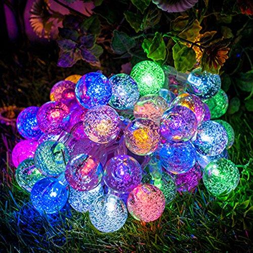 Guirlande lumineuse solaire, GLISTENY 30 LED Lampe Solaire LED ...