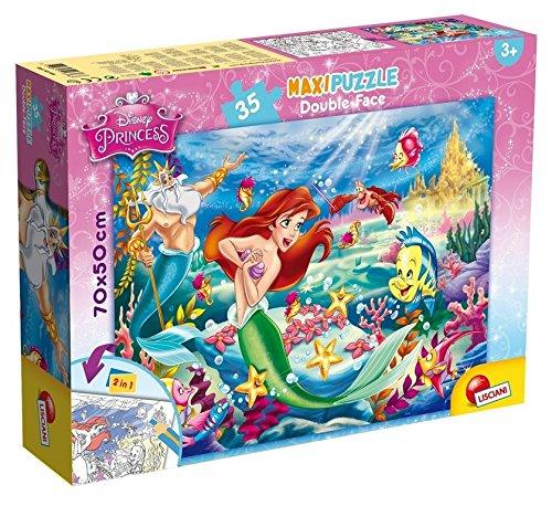 Lisciani Giochi 48168 - Sirenetta Puzzle Doppia Faccia Supermaxi, 35 Pezzi