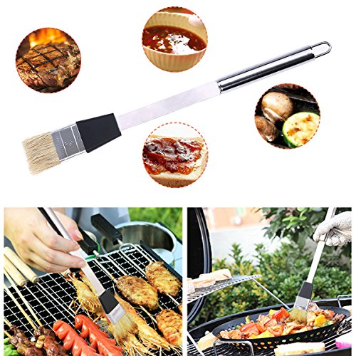 kit ustensiles barbecue discoball en acier inoxydable lot de 9 outils pour barbecue grillade. Black Bedroom Furniture Sets. Home Design Ideas