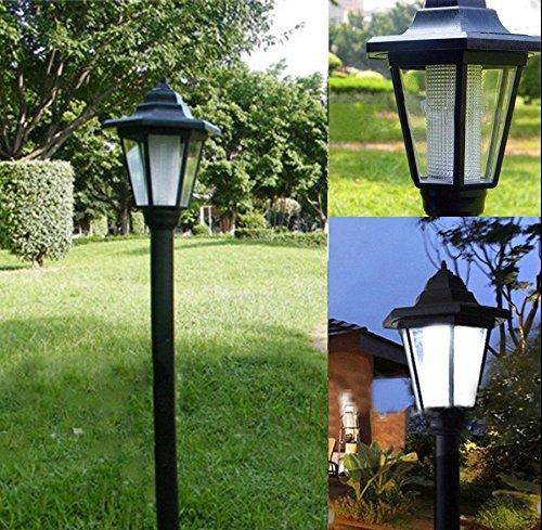 Corte Reale Stile Giardino All'aperto Led Lampada Solare Post Lanterna Luce Dell'albero Alimentato...