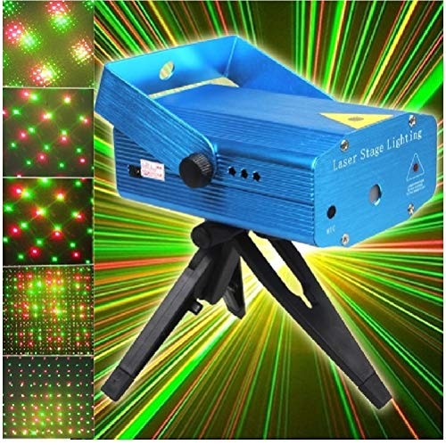 Diwali Mini Laser Projector Stage Lighting Sound Activated Laser Light for Party and DJ