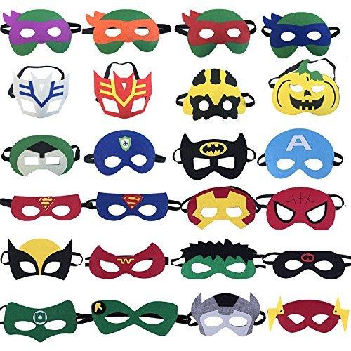 eaeb7074055fd3 24 PCS Masques de Super-Héros, Tmnt Cartoon masque, Superhero fête d ...