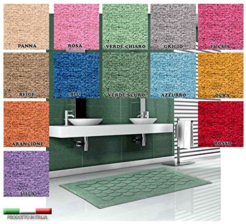 Centesimo Web Shop Tappeto Bagno in 4 Misure E 13 Colori - Prodotto in Italia - Tessuto Misto Cotone...