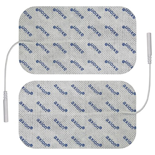 2 Stück Elektroden / Pads 120x70mm gross, für TENS - EMS - Reizstromgerät mit 2mm-Anschluss.