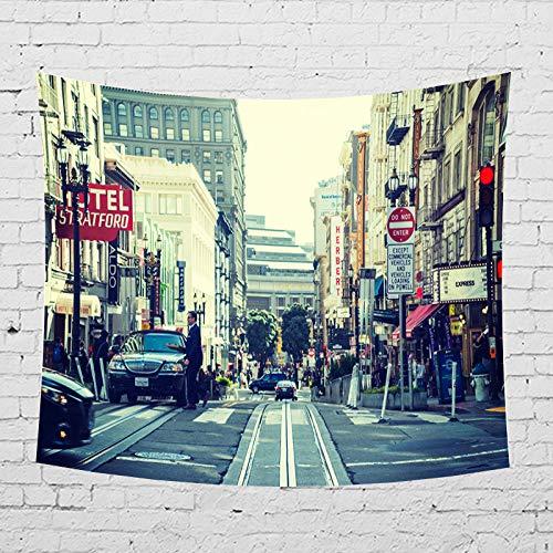 mmzki Arazzo/Coperta da Parete/Asciugamano da Spiaggia City Street 2 150x130