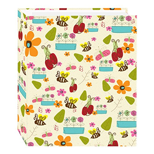 Pioneer Doodles Design Magnetic Self-Stick 3-Ring Photo Album 100 Pages (50 Sheets)
