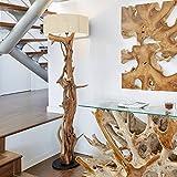 Hochwertige Treibholz Stehlampe BLUMA | Teakholz Treibholz mit Holz-Zertifikat