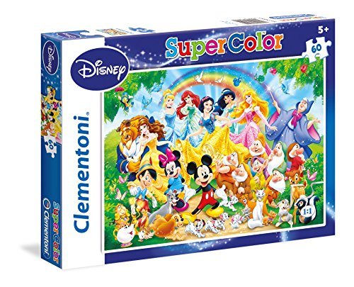 Clementoni - 26952 - Supercolor Puzzle - Disney Family - 60 Pezzi - Disney
