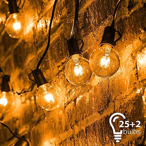 Catena di Lampadine, Mture Catena Luminosa Lampadina con 25 G40 Bulbi Bianca Calda, Luci Della...
