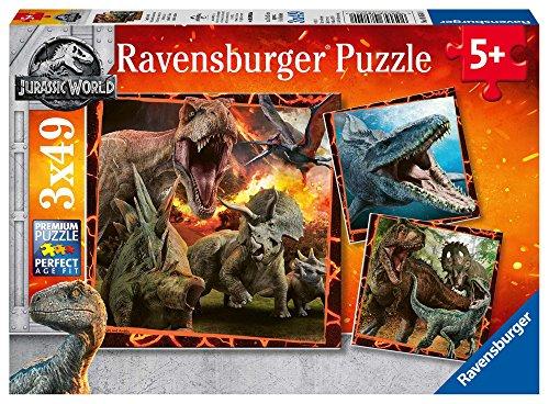 Ravensburger Jurassic World - Puzzle 3x49 Pezzi