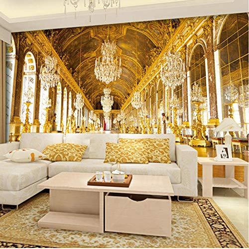 Mtisrx Carta da parati personalizzata con foto 3D Pittura Royal Palace Hotel Hall Soggiorno Divano TV Sfondo Carta da parati murale non tessuta-300cmx210cm