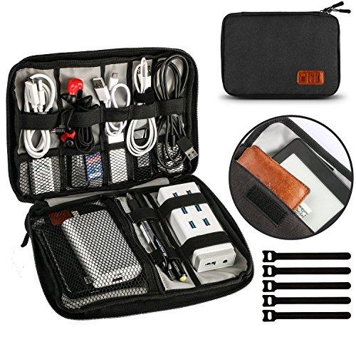 UNEEDE 2018 Cable Organizer Bag Cremallera Doble Universal Storage Case 9.4 x 6.6 pulgadas, Funda de...