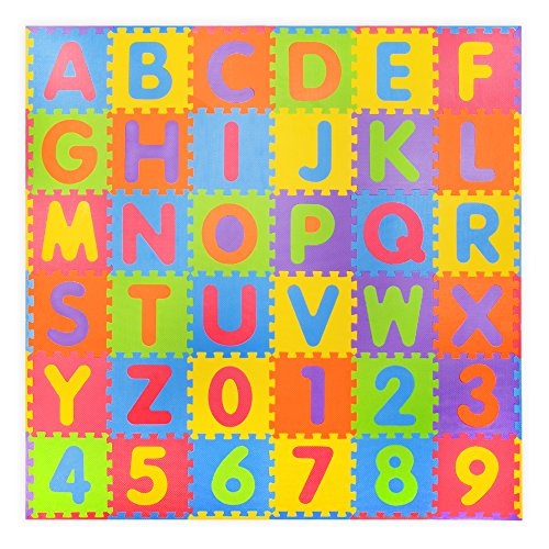 36 piece I numeri analcoliche e Alphabet tappeti gioco con bordo-Interlocking Mat Schiuma per...