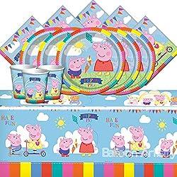 """Entretenimiento una bpwfa-104""""Peppa Pig"""" Juego de mesa para 16"""
