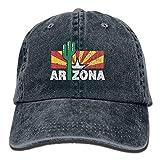 Gorra Cactus Vintage Arizona Unisex Ajustable Negra