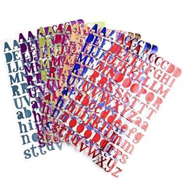 SIMUER-8-Bltter-Alphabet-Buchstaben-Aufkleber-Selbstklebende-Fun-Stickers-adesivi-Deko-fr-Grukarten-Aufkleberbogen-8-Farben