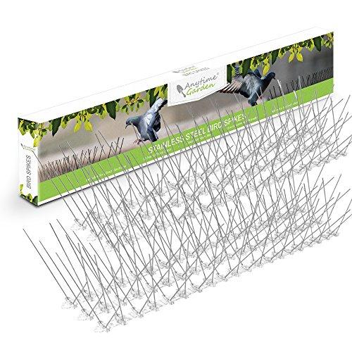 Edelstahl Taubenspikes 3M - Robuste Taubenabwehr - Gut geeignet gegen Vögel, Krähen und Spechte - Einfache Montage - Länge 3m