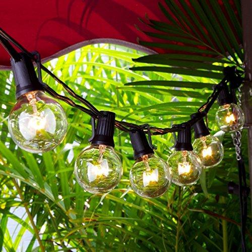 Chenci Catene Luminose, Illuminazione Luci Stringa Lampadina 25 G40 Bulbi 7,5m Filo Luce Decorazione...