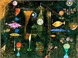 Posterlounge Lienzo 80 x 60 cm: Fish Magic de Paul Klee - Cuadro Terminado, Cuadro sobre Bastidor, lámina terminada sobre Lienzo auténtico, impresión en Lienzo