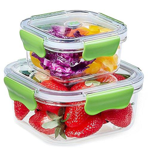 Plastico recipientes comida hermeticos microondas contenedor alimentos con 2-compartimentos