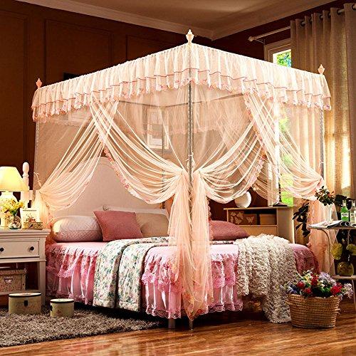 Letto Matrimoniale con Zanzariera Canopy Polyester per La Casa Fly Insect Protection Tubo da 1 5m A...
