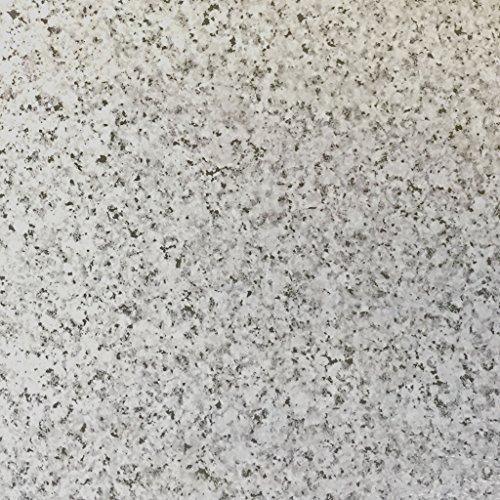 Piastrelle autoadesive in vinile, effetto granito, confezione da 50, colore: grigio