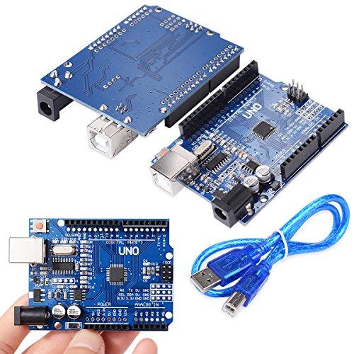 61pOBzVzoBL - XCSOURCE® Tablero UNO R3 Rev3 Desarrollo ATmega328P CH340G AVR Compatible Arduino + Cable para Arduino Hum TE113