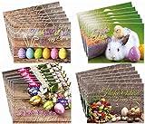 """2 set di biglietti di auguri di Pasqua:""""Nostalgie"""", 24biglietti (4motivi per 6pz.), 14,8x 10,5cm di Edition Colibri (10787-90)"""