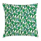 Funda Cojin Cactus Diseño Miniatura Con Flores