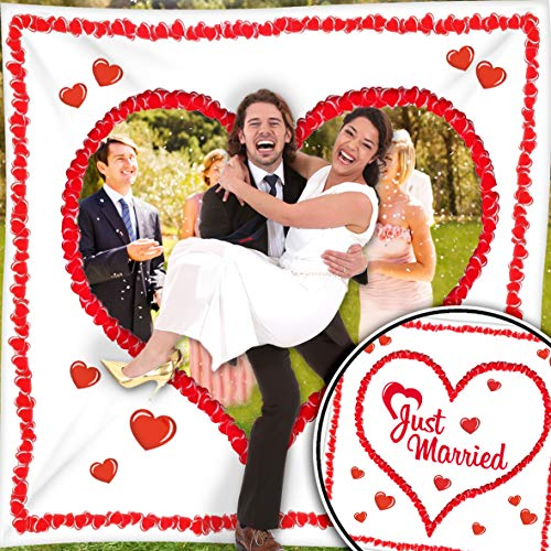 Hochzeitsherz zum Ausschneiden für das Brautpaar. Komplettset PORTOFREI