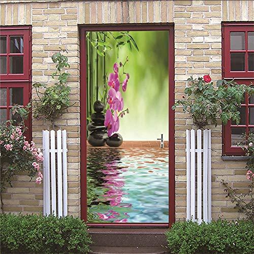 Adesivi per porte 3D per porta Poster Immagine zen 77x200cm PVC Adesivo rimovibile impermeabile...