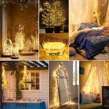 Kohree-Guirlande-Lumineuse-20M-200-LED-Blanc-Chaud-Avec-Prise-pour-Dcoration-Mariage-Fte-Maison-Jardin-Boutique-Nol