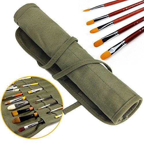 Jtdeal, porta pennelli da pittura,22 scomparti per riporre i pennelli per tempere acriliche, a olio,...