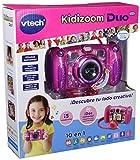 VTech - Kidizoom DUO 5.0 rosa, cámara de fotos digital, infantil con 5 megapíxeles, pantalla a color, 10 funciones diferentes, 2 objetivos (3480-507157)