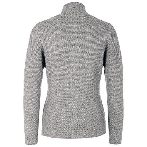 ALMBOCK Trachten Strickjacken für Damen | Damen Trachtenjacke mit Hirschhornoptik Knöpfen | Strickjacke Trachten grau - Trachtenjacke Gr. XL - 3