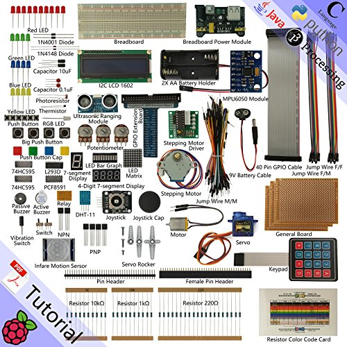 Freenove Ultimate Starter Kit for Raspberry Pi, Model 3B+ 3B 3A+ 2B 1B+ 1A+ Zero W, Python C Java, 57 Projects, 430+ Pages Detailed Tutorials, 220+ Components
