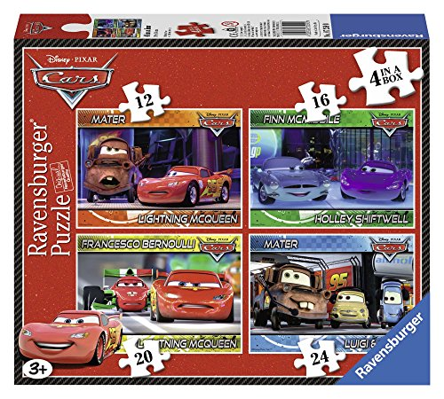 Ravensburger - 07259 0 - Cars. Puzzle 4 In A Box