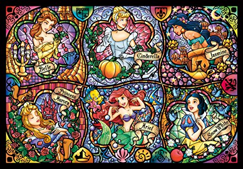 Tenyo Disney Brilliant Princess Stained Glass Gyutto Size Series Jigsaw Puzzle (500 Piece)