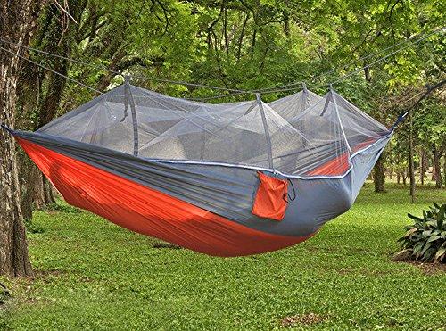 DHIDWWBBH Camping extérieur portatif moustiquaire en Nylon hamac Suspendu lit balançoire Dormir, Orange 30