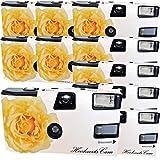 10 x PHOTO PORST appareils photo jetables crème/rose pour 27 photos avec...