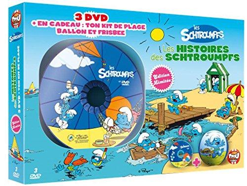 Les Schtroumpfs - Les histoires des Schtroumpfs - Coffret 3 DVD + Kit de plage (ballon et frisbee) [Francia]