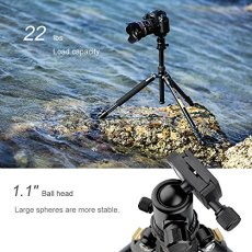 Trípode Completo - K&F Concept TM2324 Trípode Flexible para Cámara con Rótula de Bola Placa Rápida Liberación Trípode Compacto para Canon Nikon Sony Panasonic GoPro Fujifilm Kodak Cámara DSLR y DV,Negro