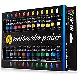 Colore Set di acquerelli – Kit per dipingere di alta qualità per artisti, studenti e principianti – Perfetto per ritratti e paesaggi su tela - 24 colori di acquerelli ricchi di pigmenti