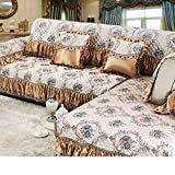 KFHIWUEHPJHD Encaje Vintage Suede sofá Cubierta,Cubierta del sofá Antideslizante Cuatro Temporadas Universal Simple Moderno Europeo Tela de cojín de sofá para Sala de Estar-D 70x120cm(28x47inch)