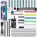 Elegoo Kit Elettronico con Breadboard di 830 punti, Cavetti, Modulo Alimentazione, Potenziometri per Arduino UNO MEGA2560 Raspberry Pi