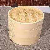 Bambusdämpfer Dampfkorb Bambus Dampfgarer Reis, Dim Sum, Gemüse, Fisch und Fleisch Zuhause Küche