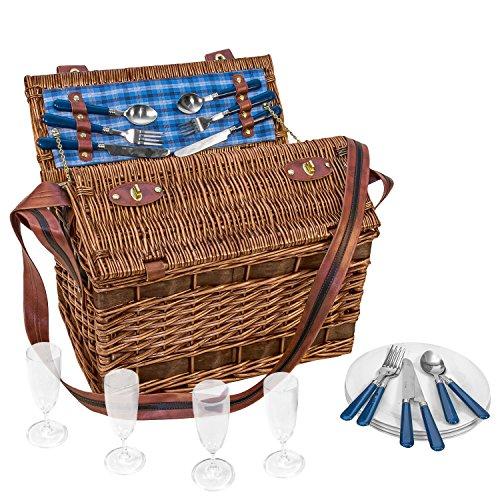 anndora Weiden-Picknick Korb Summertime für 4 Personen - 604032