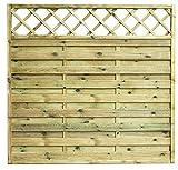 Avanti Trendstore - Cremona - Sichtschutzwand aus Kieferholz massiv, imprägniert, in 3 verschiedenen Größen verfügbar (180x180cm)