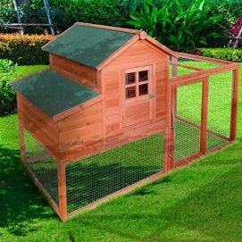 XXL Hühnerstall für Hühner und Hasen | Kleintier Käfig